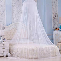 Балдахин антимоскитный подвесной над кроватью. Сетка полог от комаров на кровать бежевого цвета
