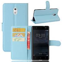 Чехол-книжка Litchie Wallet для Nokia 3 Голубой, фото 1