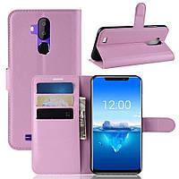 Чехол-книжка Litchie Wallet для Oukitel C12 pro Светло-розовый, фото 1
