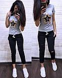 Жіночий літній повсякденний костюм з футболкою з пайеткой 7405634, фото 3