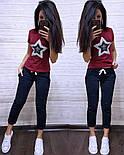 Жіночий літній повсякденний костюм з футболкою з пайеткой 7405634, фото 8