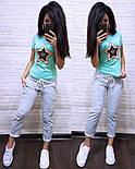 Жіночий літній повсякденний костюм з футболкою з пайеткой 7405634, фото 9