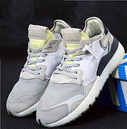 Мужские кроссовки Adidas Nite Jogger серые. Живое фото (Реплика ААА+)