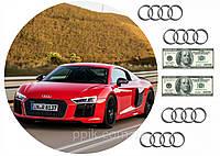 Вафельна картинка автомобіль Audi