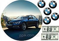 Вафельна картинка автомобіль BMW 2