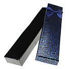 Подарочная коробочка под браслет или цепочку Сердечки с бантом 20,5х4,5х2 см, микс цветов, фото 2