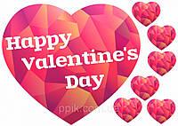 Вафельная картинка День Святого Валентина