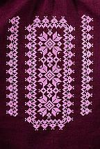 Модная женская вышиванка Орнамент, бордо, фото 3