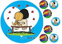 Вафельная картинка Любовь - это
