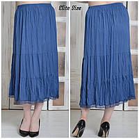 7864d4e962f Длинная хлопковая женская юбка в больших размерах 6151680