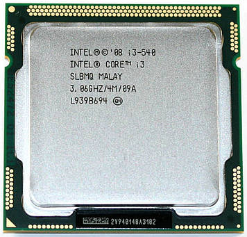 Процессор Intel Core i3 540 3.06GHz/4M/2.5GT/s (SLBMQ) s1156, tray