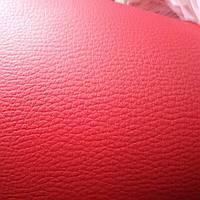 Термовинил матовый,ярко-красный, толщина 1,5 мм. ,для руля и панели автомобиля
