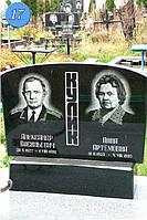 Пам'ятник  для двох горизонтальний з квітником на могилу із граніту