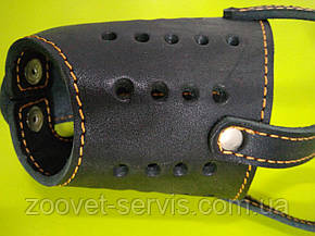 Намордник кожаный для добермана Черный КОЛЛАР 06211, фото 2