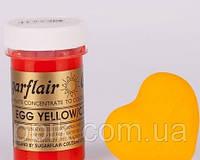 Краска паста Sugarflair Желтая, фото 1
