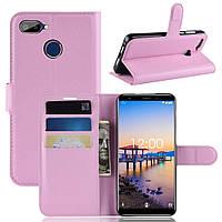 Чехол-книжка Litchie Wallet для Oukitel C11 Pro Светло-розовый