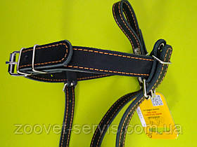 Намордник кожаный для добермана Черный КОЛЛАР 06211, фото 3