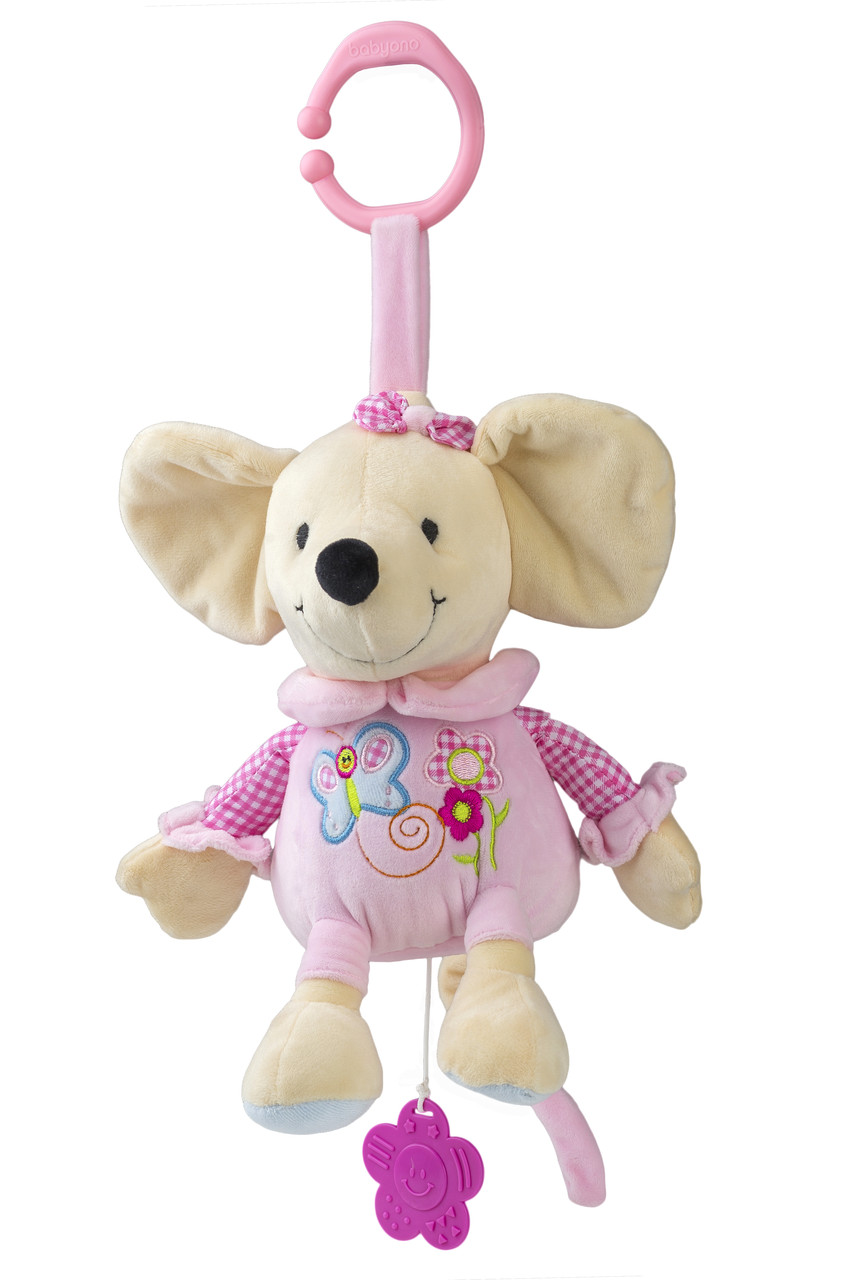 Музыкальная игрушка Милая Мышка 35 см BabyOno