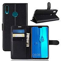 Чехол-книжка Litchie Wallet для Samsung Galaxy M20 Черный, фото 1