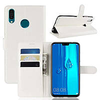 Чехол-книжка Litchie Wallet для Samsung Galaxy M20 Белый