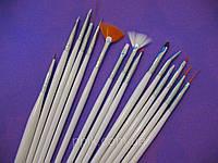 Набор кисточек для рисования 15 шт., фото 1