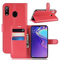 Чехол-книжка Litchie Wallet для Samsung Galaxy M20 Красный, фото 1