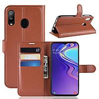 Чехол-книжка Litchie Wallet для Samsung Galaxy M20 Коричневый