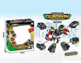 Тобот 519 Кватран (ТрансформерQUATRAN) 4 в 1: робот из 4 машинок