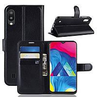 Чехол-книжка Litchie Wallet для Samsung Galaxy M10 Черный, фото 1