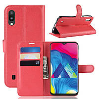 Чехол-книжка Litchie Wallet для Samsung Galaxy M10 Красный