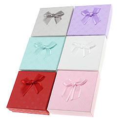 Подарочная коробочка под набор Геометрические узоры 9х9х2,5 см, микс цветов
