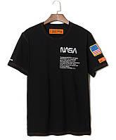 Футболка NASA x Heron Preston чёрная (наса херон престон мужская женская)