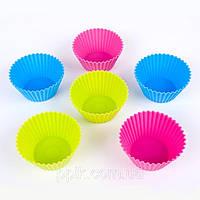 Набор силиконовых тарталеток (классик ) для кексов (6 штук), фото 1