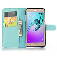 Чехол-книжка Litchie Wallet для Samsung Galaxy J7 2016 (J710) Голубой, фото 1