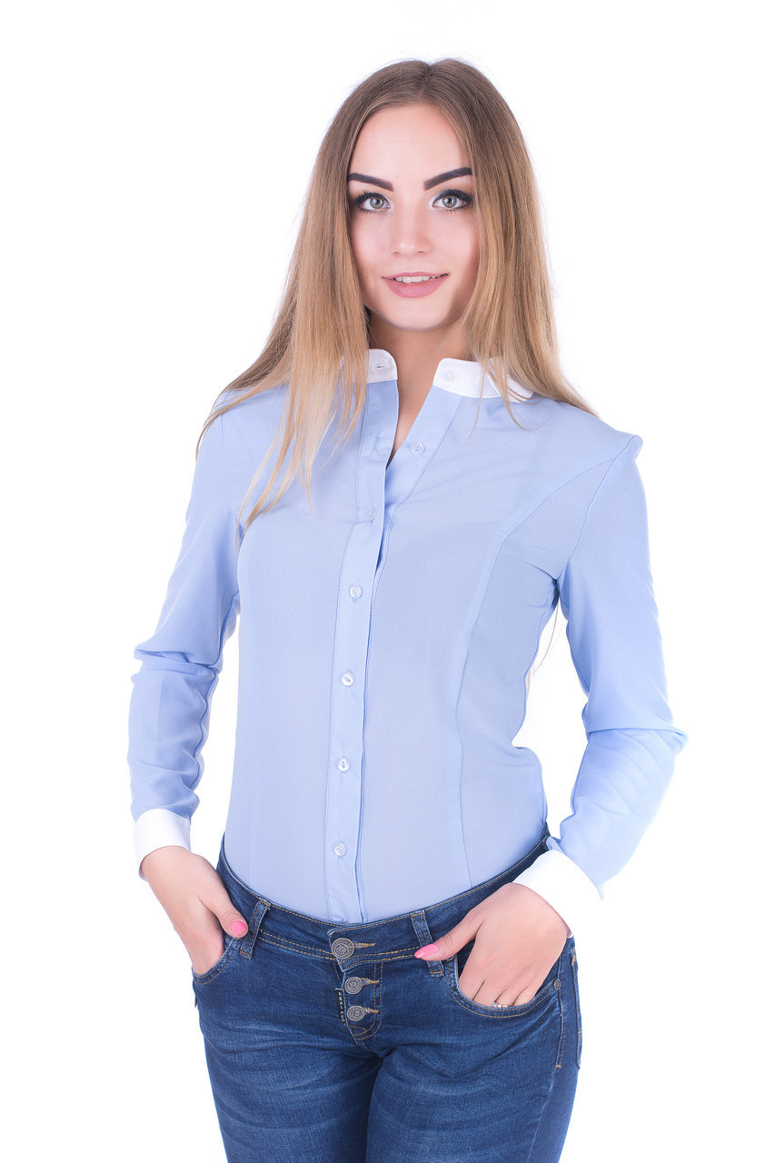 Блузка K&ML 462 голубой 48, фото 1