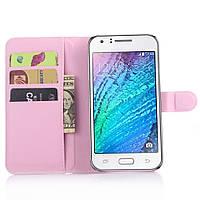 Чехол-книжка Litchie Wallet для Samsung J700 Galaxy J7 Светло-розовый