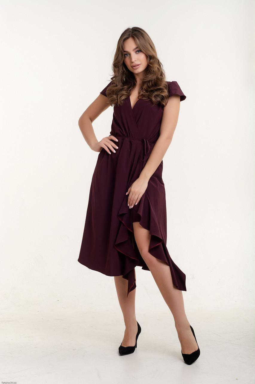 Платье K&ML 493 бордовый 46