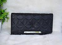 Шикарный черный кошелек Шанель, фото 1