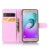 Чехол-книжка Litchie Wallet для Samsung Galaxy J5 2016 (J510) Светло-розовый, фото 1