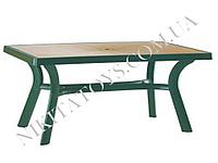 "Пластиковый стол ""ROMA"" 182 D зел./кор."