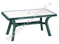 "Пластиковый стол ""ROMA"" 182 D зел./мрамор"