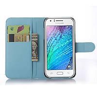 Чехол-книжка Litchie Wallet для Samsung J500 Galaxy J5 Голубой, фото 1