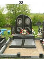 Подвійний комплект із закритим квітником із граніту на кладовище