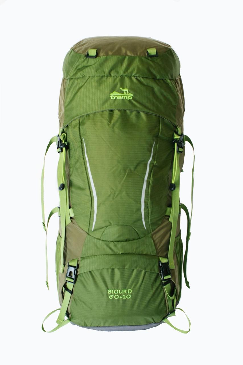 Туристический рюкзак Sigurd 60+10 зеленый