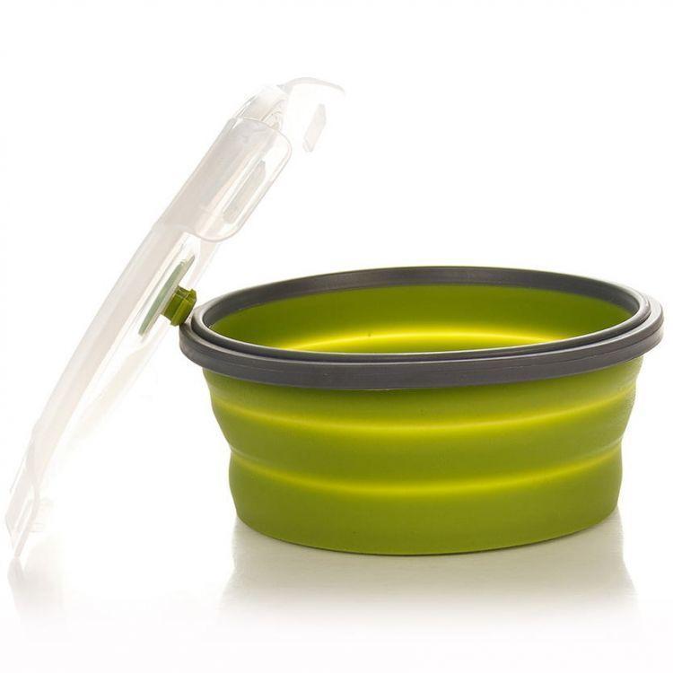 Контейнер складной с крышкой-защелкой Tramp (800ml) olive
