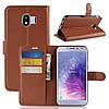Чехол-книжка Litchie Wallet для Samsung J400 Galaxy J4 2018 Коричневый