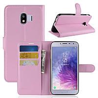 Чехол-книжка Litchie Wallet для Samsung J400 Galaxy J4 2018 Светло-розовый, фото 1
