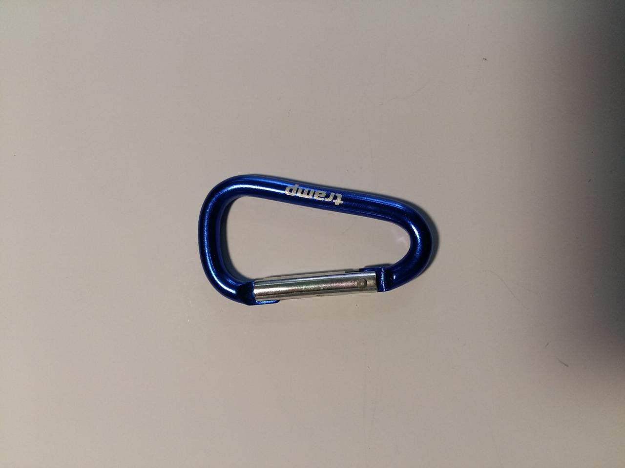 Карабін Tramp алюмінієвий, розмір 5 см, без муфти,блакитний арт.TRA-058