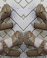 Босоножки женские на устойчивом каблуке RS 1772/3 разные цвета