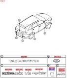 Наклейка антигравійна задня права, KIA Sorento 2015-18 UM, 87549c5000, фото 3